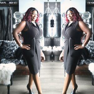 🔥 Black Sheath Wrap Dress Sz XL